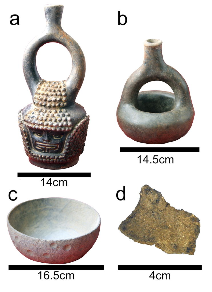 Illustrations d'artefacts du site de Santa Ana-La Florida, en Équateur