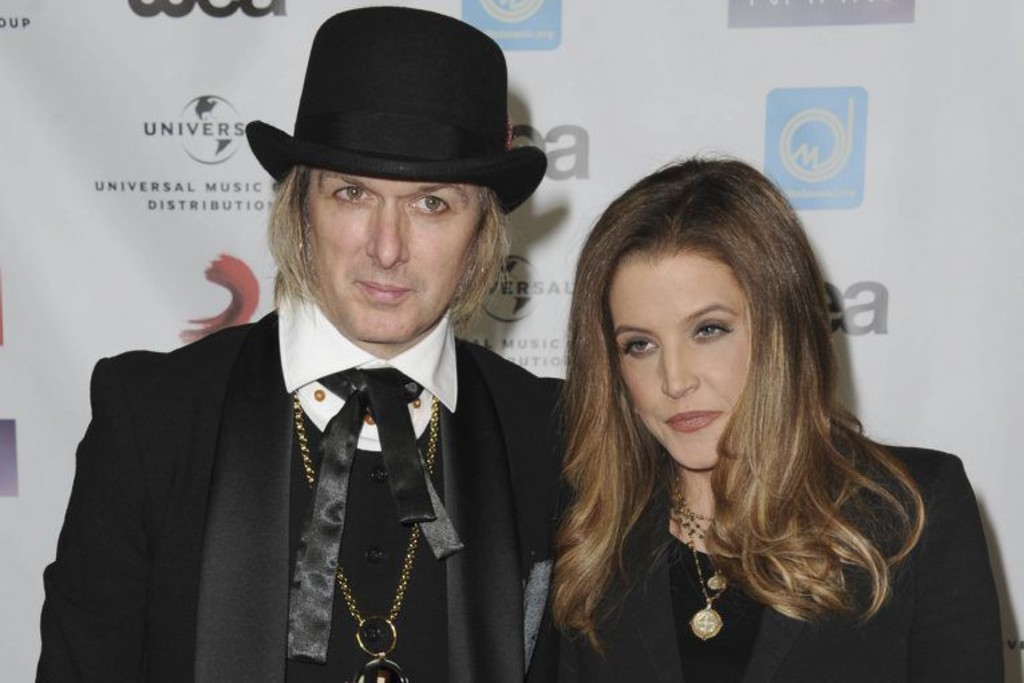 Michael Lockwood et Lisa Marie Presley aux NARM Music Biz Awards en mai 2012.