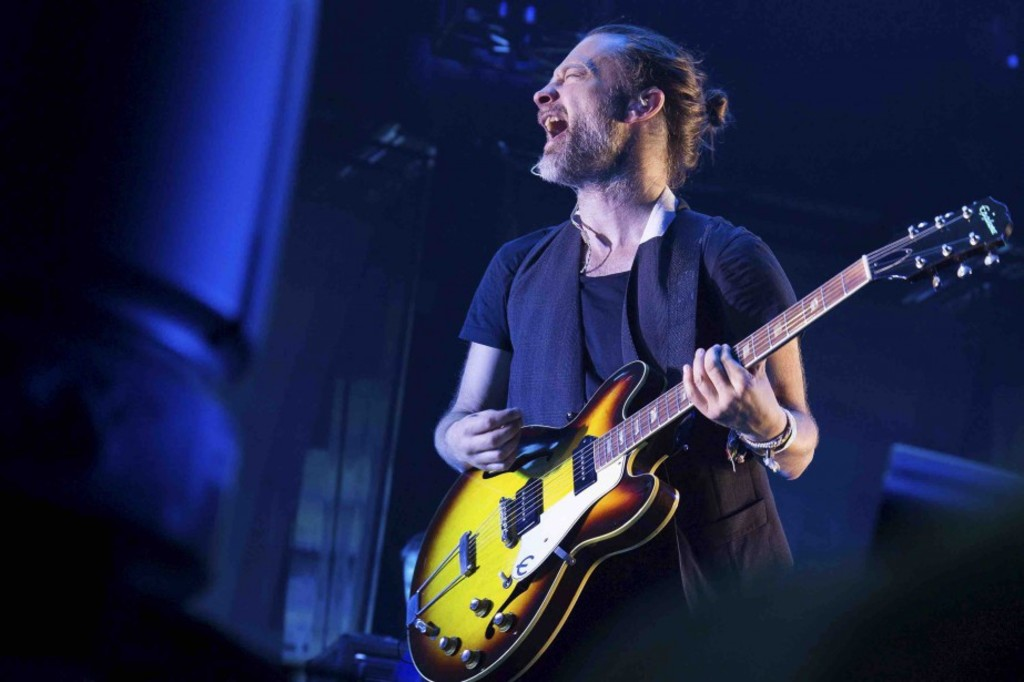 Radiohead lors d'un spectacle à New York.