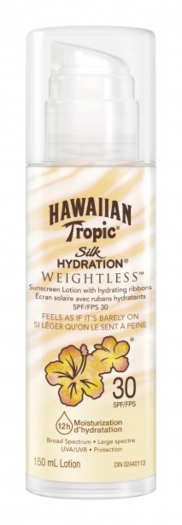 <p>Écran solaire Silk Hydratation Weightless FPS 30 de Hawaiian Tropic (11,99 $)</p>
