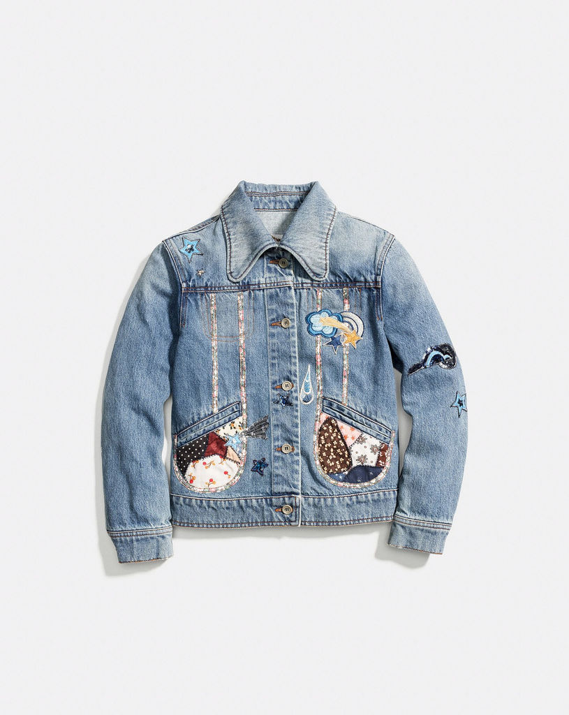 Le denim, veste Coach