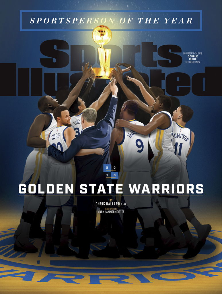 La couverture du Sports Illustrated rendant hommage aux Warriors