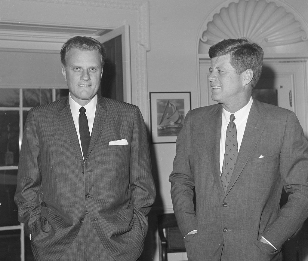 Billy Graham et le président John F. Kennedy à Washington, en décembre 1961