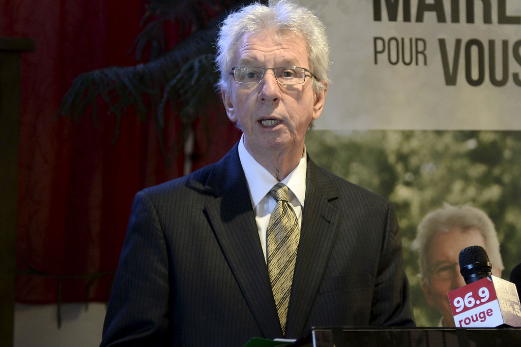 Jean-Pierre Blackburn a tenu un point de presse à Chicoutimi-Nord.