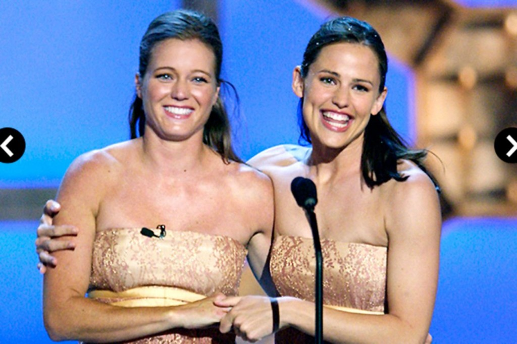 <p>Jennifer Garner et son double</p>