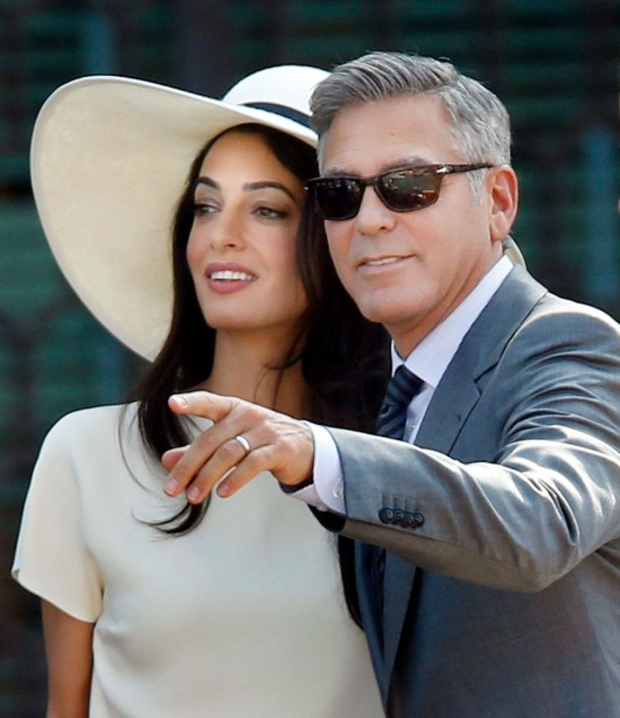 <p>George Clooneyet Amal Alamuddin<strong></strong></p>