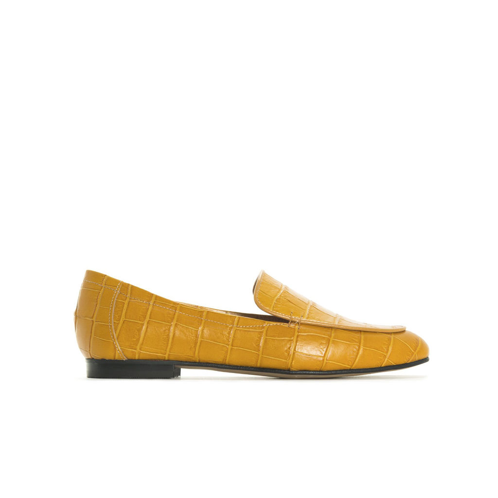 Loafers Norte croco moutarde, 148 $ chez L'Intervalle