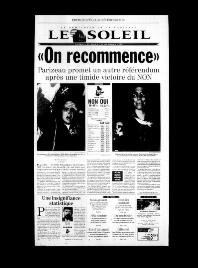 <strong>31 octobre 1995</strong>«On recommence»