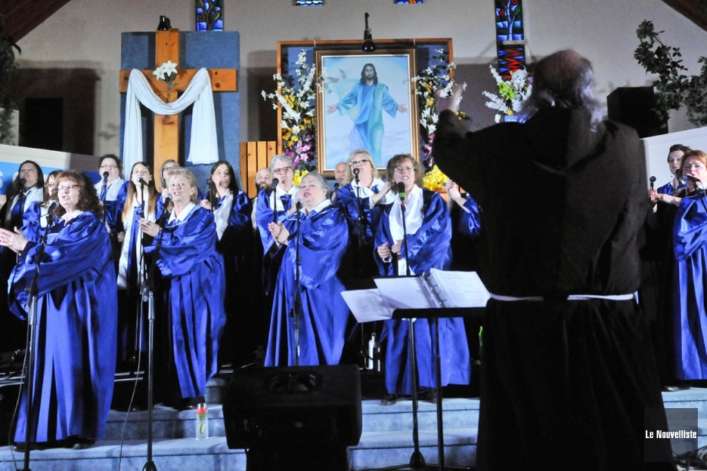 <p>La chorale gospel InterCD .</p>