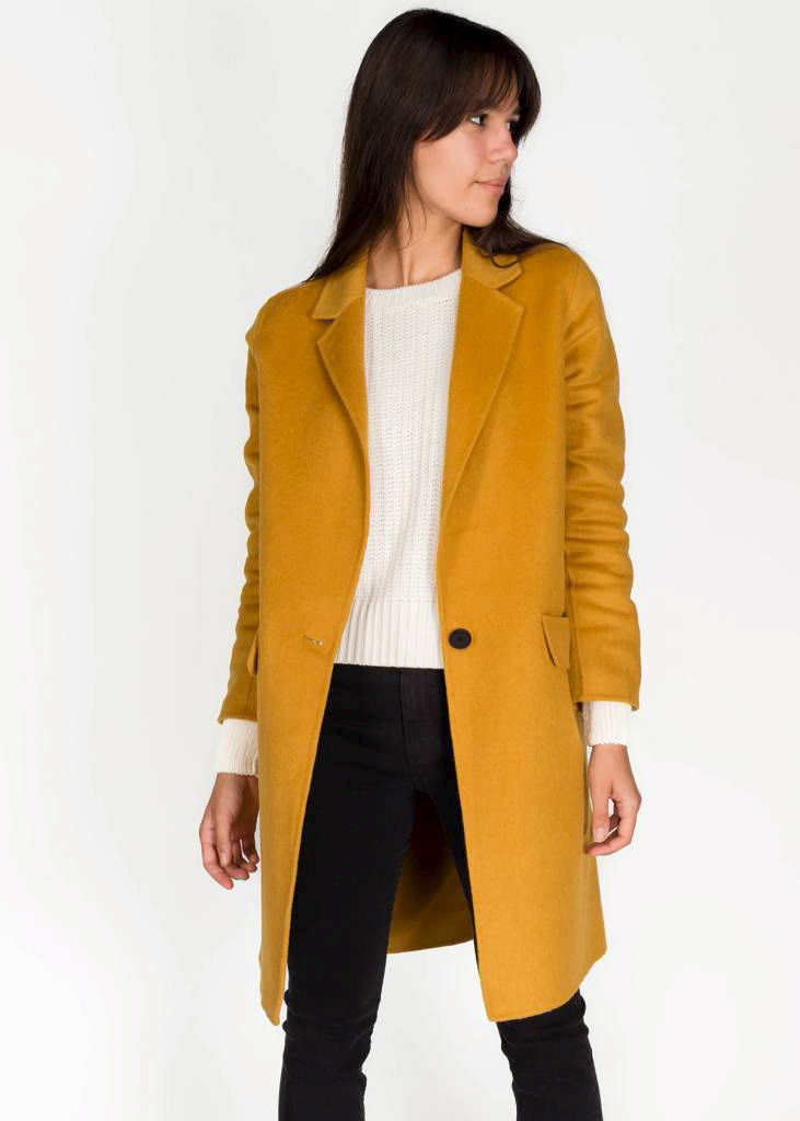 Manteau Elgin chai tea, 369 $ chez Swell & Ginger