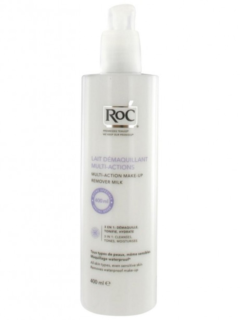 <strong>Lait démaquillant multi-actions </strong><strong> </strong>de RoC (25,99 $, 400 ml)