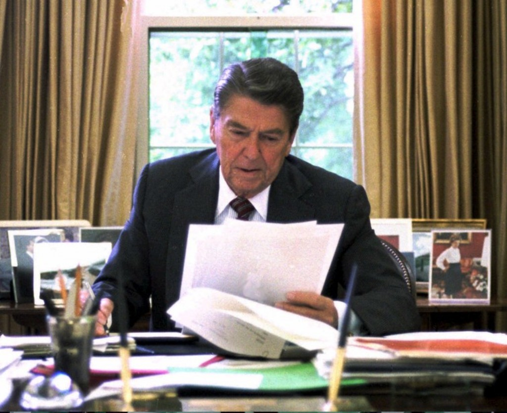 <p>Ronald Reagan</p>