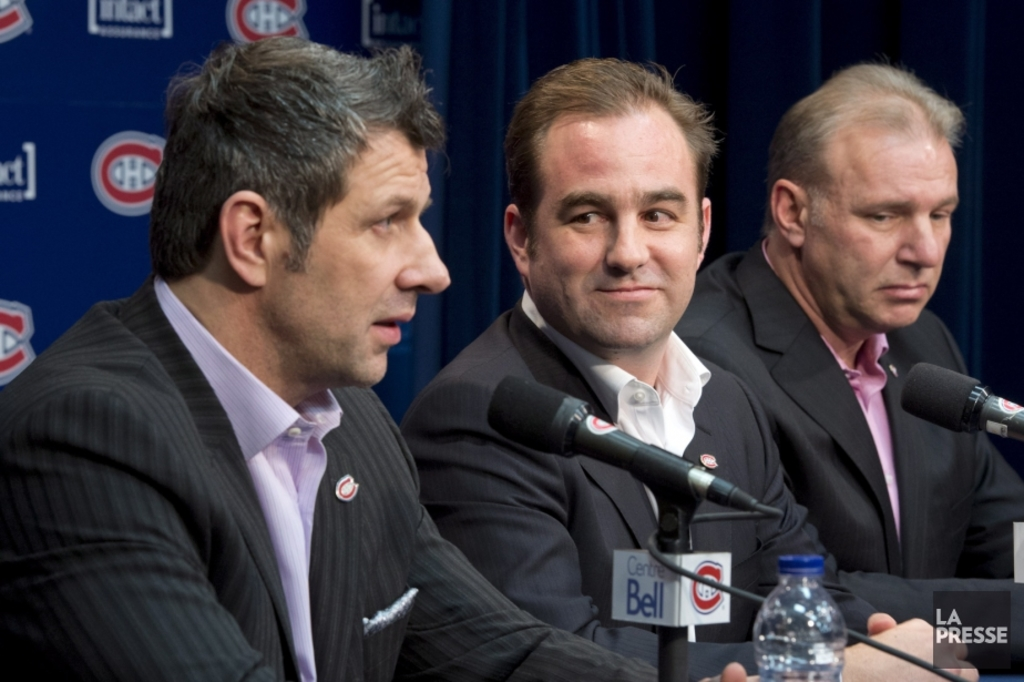 Marc Bergevin, Geoff Molson et Michel Therrien.