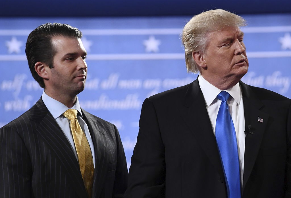 Donald Trump et son fils Donald Jr, en septembre 2016