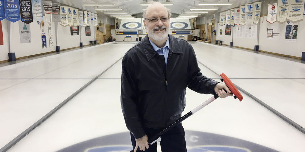 Michel Gingras, président du Club Victoria de curling