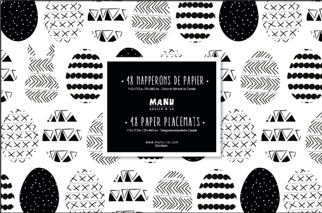 Paquet de 48 napperons en papier Manu Design & Co