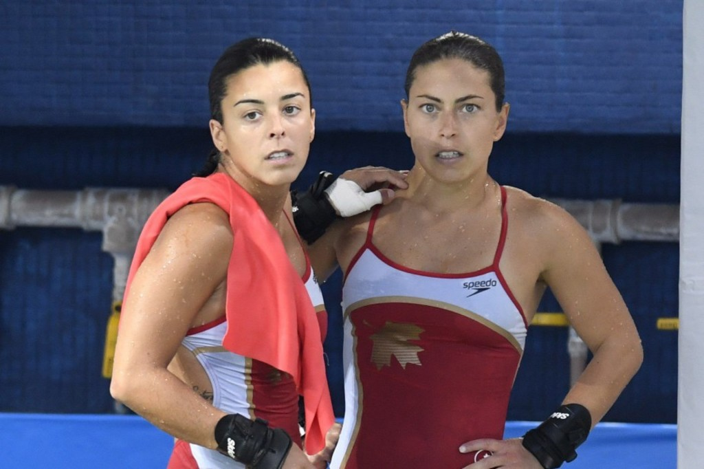 <p>Meaghan Benfeito et Roseline Filion</p>