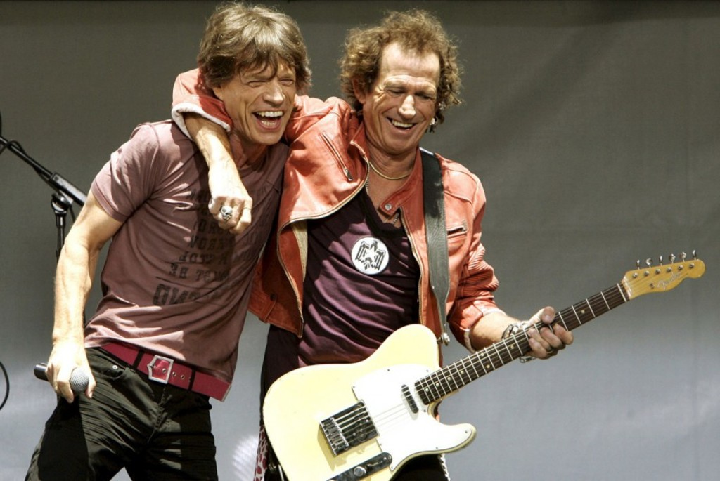 <p>Mick Jagger et Keith Richards à New York en 2005</p>